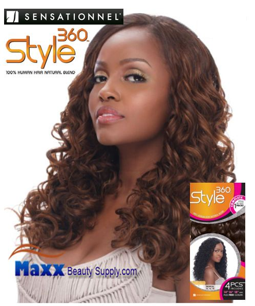 Sensationnel Style 360 Human Hair Blend Weave - Splendor
